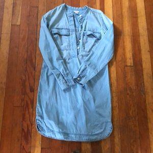 JCrew Factory chambray tunic dress XXS